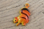 Tiny Vintage Hand-Painted Metal Squirrel Charm