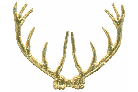 Package of 10 LARGE Golden Dresden Antlers