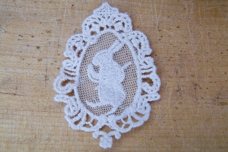 White Lace White Rabbit Motif