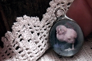 Vintage Photo Pendant featuring a Chick