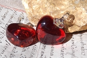 New Red Glass Heart Pendant