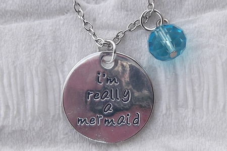I'm Really a Mermaid Charm on Matching Chain