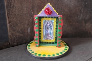 Los Mestizos Mini Dashboard Shrine - Virgen de Guadalupe