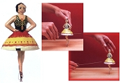 Old-Time Spinning Top - Carmen the Ballerina (Photo Sample)